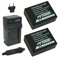 Wasabi Power Battery (2-Pack) and Charger for Fujifilm NP-W126