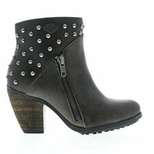 LADIES HARLY DAVIDSON WEXFORD WIDE FITTING  GREY ANKLE BOOT