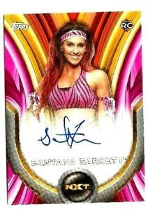 2020 WWE WOMEN'S DIVISION SANTANA GARRETT PINK ROOKIE AUTO # 100/150