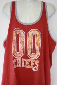 NEW Womens NFL Apparel Kansas City Chiefs Red Tank Top Football Shirt