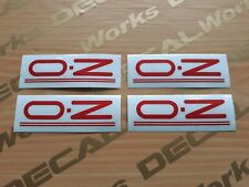 16in Red OZ Racing Crono Evo Wheel Replacement Mags Spoke Decal Sticker