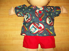 """THOMAS the TRAIN ENGINE SHIRT W/ RED SHORTS for 20-24"""" CPK Cabbage Patch Kids"""