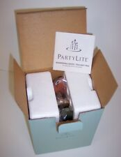 PartyLite Whispering Leaves Tealight Candle Holders Trio New w Box Fall Decor