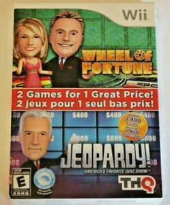 Wheel of Fortune & Jeopardy combo pack for WII, Sealed, English/French Edition