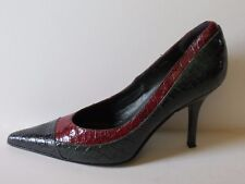 DONALD J. PLINER Couture Print Croc Leather Pumps  ITALY Sz 8,5
