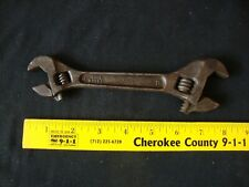 "VINTAGE LAKESIDE DOUBLE ENDED CRESCENT WRENCH 6""- 8"""