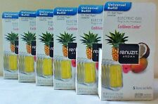 30 RENUZIT CARIBBEAN COOLER ELECTRIC GEL PLUG INS REFILLS Fit Glade PlugIns 6Box