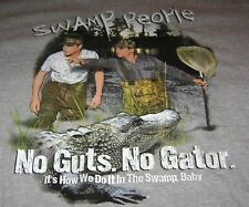 SWAMP PEOPLE TOMMY & JOE T-SHIRT 2XL XXL NEW NO GUTS NO GATOR TEE