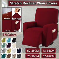 US Stretch Recliner Slipcover Signal Sofa Couch Chair Covers Protector Washable