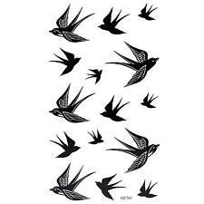 3st Schwalben Vogel Flash Abnehmbare wasserdichte Tattoo Aufkleber Körper Kunst