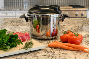 Turbo Easy-Lock Lid Stove Top 8 Quart Pressure Cooker Induction Compatible