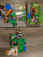 Lego Minecraft The Melon Farm 100% Complete, And The Chicken Coop incomplete