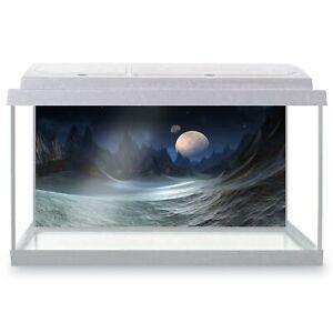 Fish Tank Background 90x45cm - Sci-Fi Moon Alien Planet Space Art  #16867