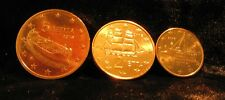 Monnaie 1,2,5 centimes cent cts euro Grèce 2016, neuves du rouleau, UNC