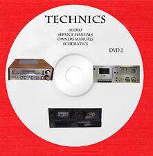Technics Audio Repair Service owner manuals dvd 2 of 2 in pdf format