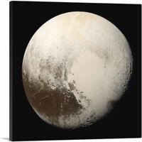 ARTCANVAS Planet Pluto Ninth Planet From the Sun Canvas Art Print
