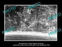 OLD LARGE HISTORIC PHOTO PEENEMUNDE GERMANY THE V2 ROCKET STATION BOMBING 1943 1