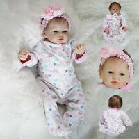 55cm Lovely Reborn Baby Dolls Newborn Toddler Adorable Girl Kids Birthday Gift