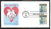 US Scott #  3227 Organ & Tissue Donation  FDC. Artmaster Cachet.