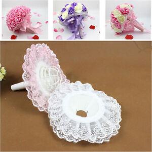 1pcs Bridal Wedding Supplies Flower Bouquet Holder Handle Lace Decoration