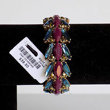 NWT Authentic J Crew Stone and Crystal stretch Bracelet Multi Color