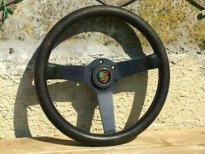 Vintage Momo 350mm 2/1980 leather nice patina Porsche 911 930 944 steering wheel