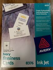 Avery Ivory Ink Jet Professional Business Cards 250 Cards 8376