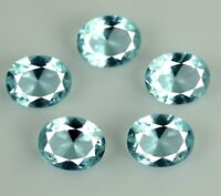 Aquamarine 9.50 Ct Loose Gemstone Lot 5 Pcs 100% Natural Oval Cut AGSL Certified
