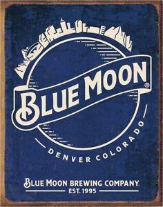 Blue Moon Skyline Logo Retro Metal Tin Sign Bar Lounge Pub Game Room Home Gift