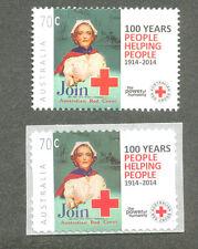 Australia-Red Cross-enfermería-Medical estampillada sin montar o nunca montada Engomado + Autoadhesivas (220140