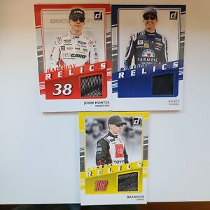 2021 DONRUSS RACING RACE DAY RELICS LOT OF 3 RACE USED TIRE RELIC CARDS