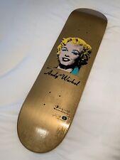 Alien Workshop Andy Warhol Gold Marilyn Monroe Dyrdek Skate Deck Skateboard