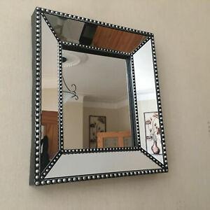 Industrial Style Silver Black Small Wall Mirror Bathroom Hallway Wall Bedroom UK