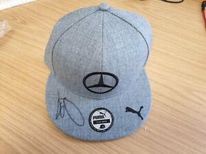 Lewis Hamilton Signed Cap Mercedes 2014 Autograph Rare Montreal Grey