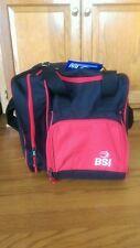 BSM single bowling ball bag - red