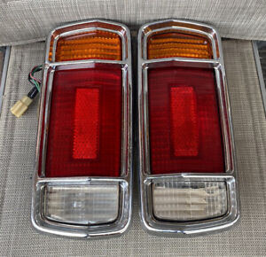 DATSUN 1970-73 SUNNY (B110) 1200 2&4 DOOR SEDAN GENUINE CHROME TAIL-LIGHTS!! EC!