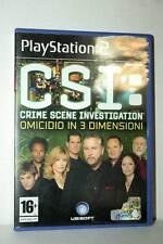 CSI: CRIME SCENE INVESTIGATION OMICIDIO IN 3 DIMENSIONI USATO PS2 ITA GD1 40437