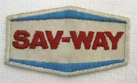 Vintage Sav-Way Patch Uniform or Coat 3 1/2 x 2 Inches T21