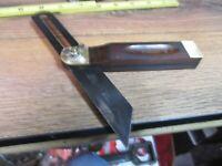 "Vintage No 25 Stanley- 8"" inch Sliding T Bevel Square TOOLS WOOD & BRASS USA JMJ"