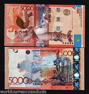 KAZAKHSTAN 5000 5,000 TENGE 2011 *REPLACEMENT* PIGEON CAT MAP BIRD UNC RARE NOTE