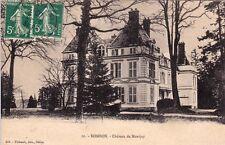 BOMBON 10 château de montjay timbrée 1909