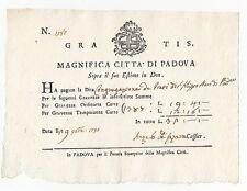 D124-REP.VENETA-PADOVA RICEVUTA DI PAGAMENTO 1791