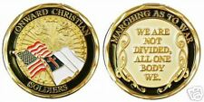 ONWARD CHRISTIAN SOLDIERS GOLD MILITARY CHALLENGE COIN