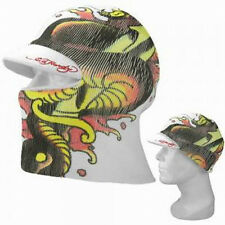 NWT ED HARDY MENS SNAKE & DAGGER CONVERTIBLE TO A CUFF CAP W/VISOR HAT/FACEMASK