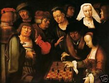 LUCAS VAN LEYDEN, RENAISSANCE CHESS PAINTING, DUTCH ART - COURIER CHESS (251)