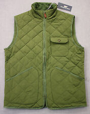 Vineyard Vines Logo Mens Cypress Green Corduroy Collar Quilted Vest NEW S $185