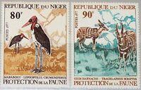 NIGER 1977 571-72 391-92 Nature Protection Umweltschutz Birds Vögel Fauna MNH