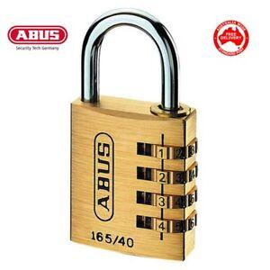 Abus 165/40 Combination Padlock Combo Padlocks (16540C) -FREE POSTAGE