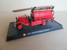 619K Del Prado Fire Engine Chevrolet 1929 Firefighters Belgian 1:50