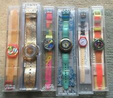 6 OROLOGI SWATCH POP BOX Inlet - 1990's - Orologio la raccolta-vintage clock SWISS MADE